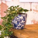 Large Blue Flower Pots