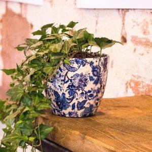 Large Blue Flower Pots
