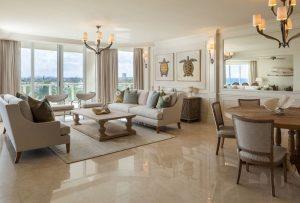 living room marble floor